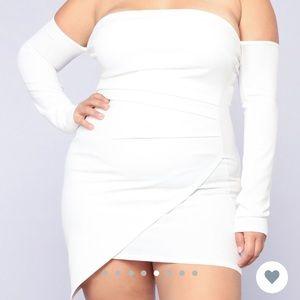 """Fashion Nova """"Feelin My Vibe Midi Dress"""" - White"""